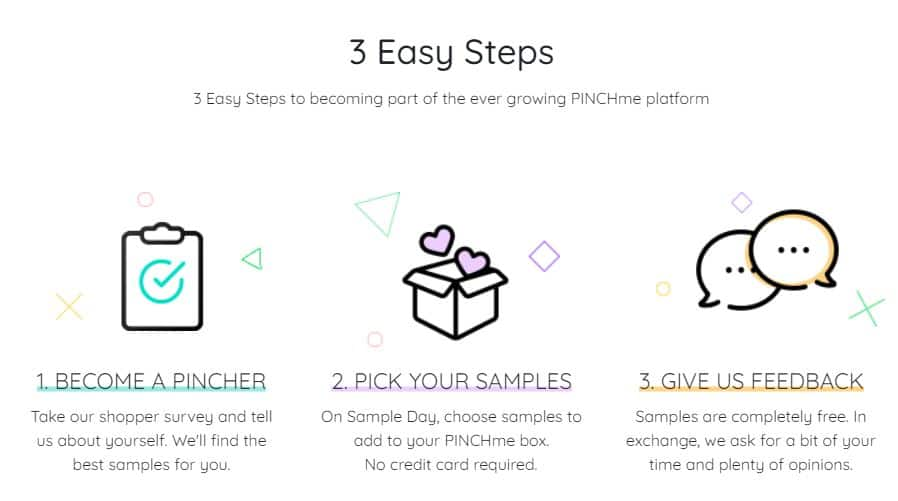 PINCHme free samples