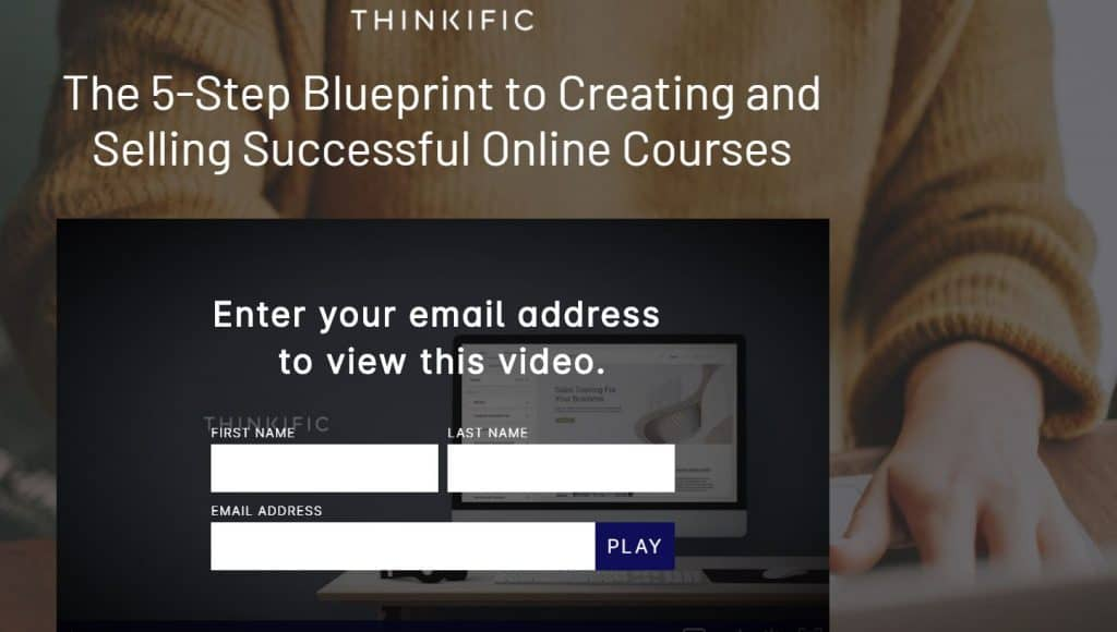 Thinkific sign up