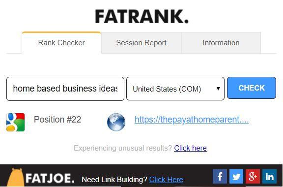 idées d'entreprises à domicile Fat Rank