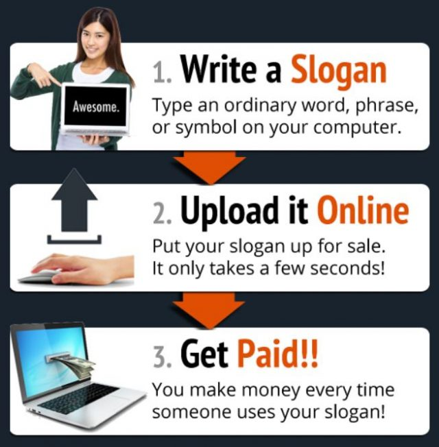 how to get paid to write slogans