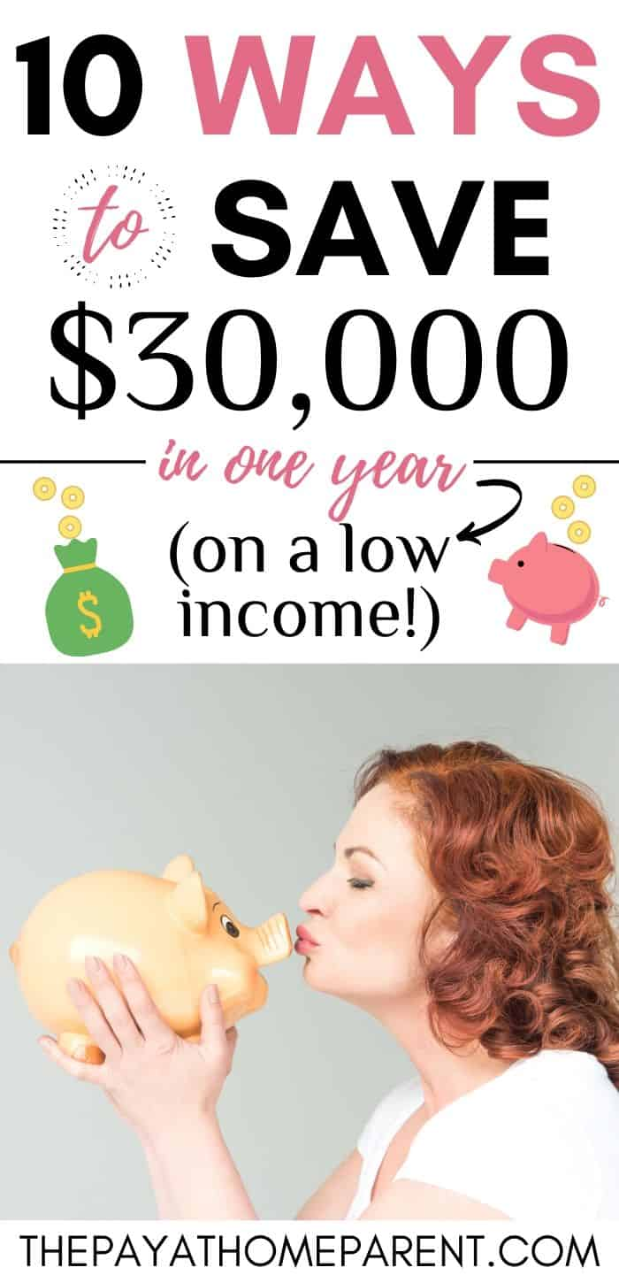 10 Ways to Save Lots of Money with a Low Income in One Year