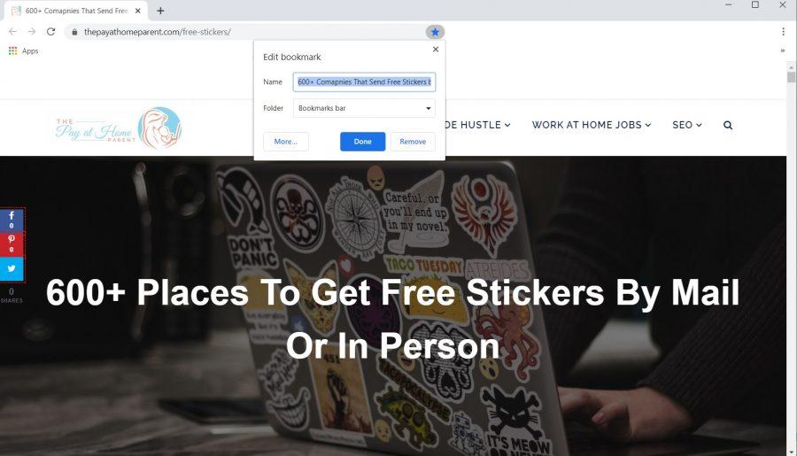 Screenshot of how to bookmark post
