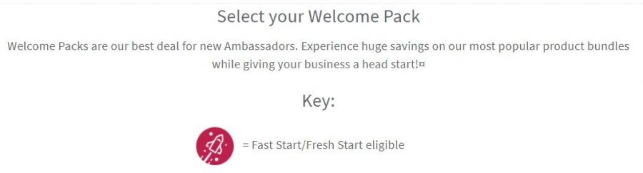 6. Select a Welcome Pack