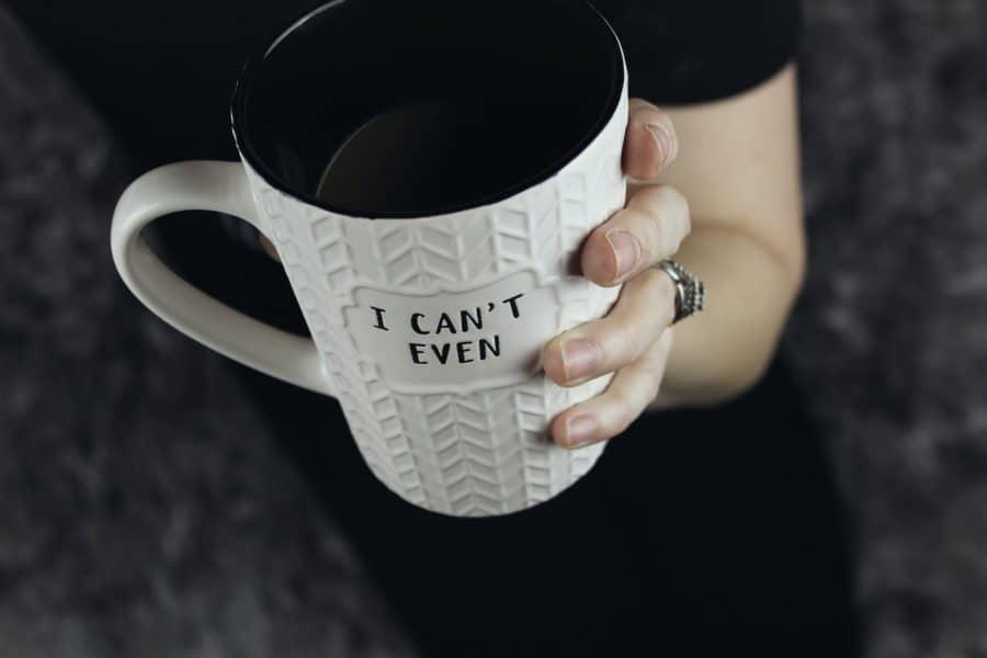 Coffee mug slogan