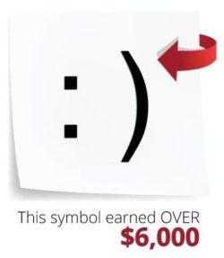 Slogan seller symbol