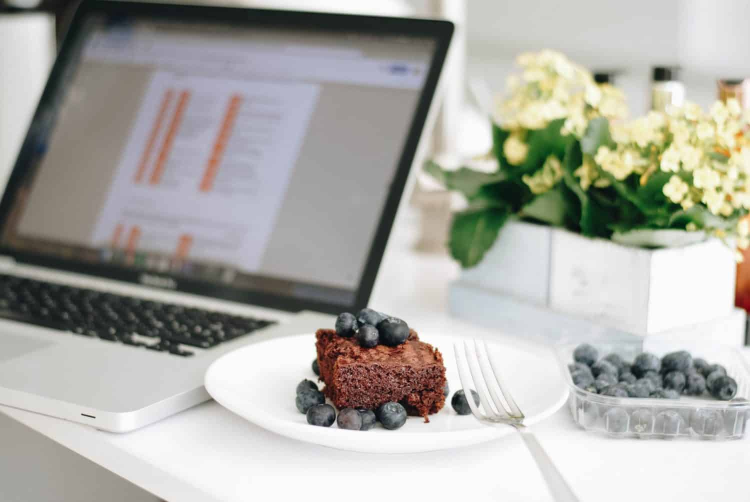 food and a laptop
