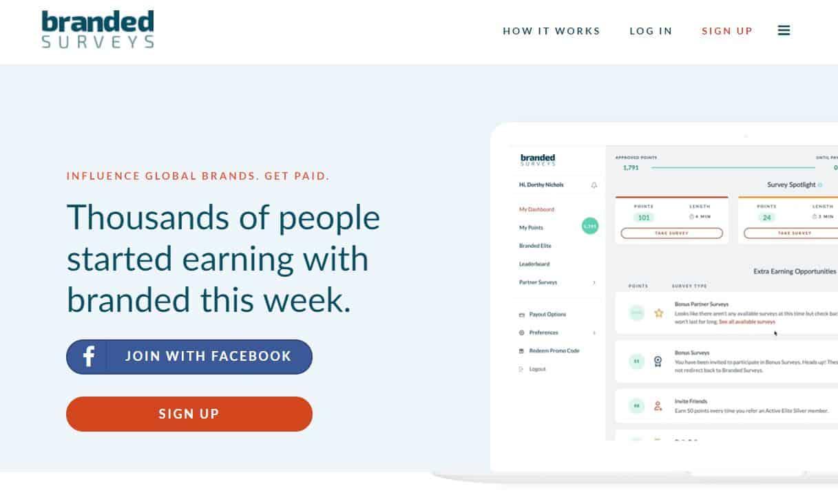 branded surveys homepage