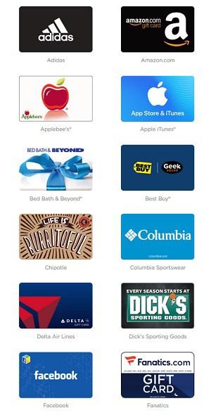 InboxDollars Gift Cards