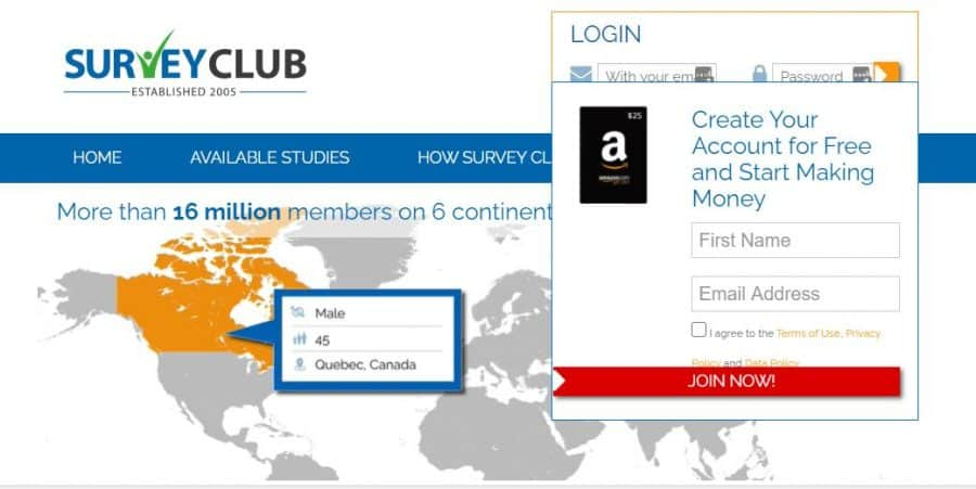 Survey Club screenshot