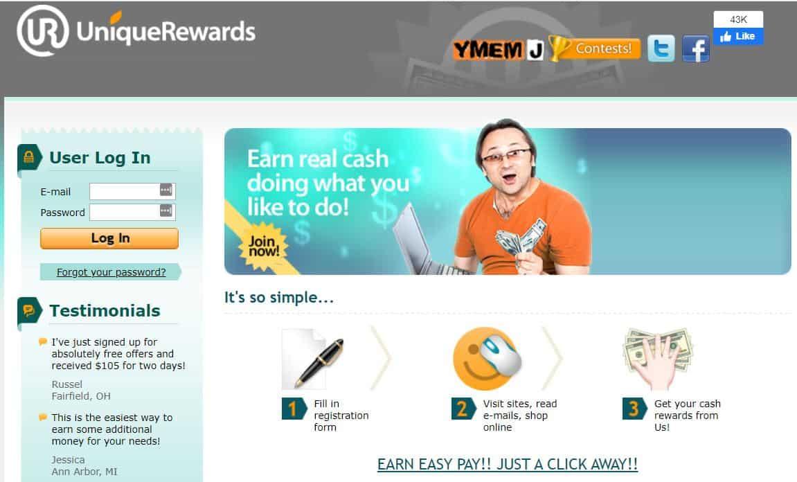 Unique Rewards screenshot
