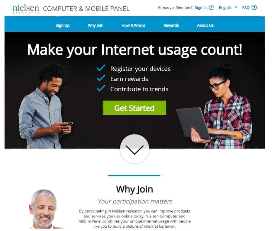 Nielsen home page